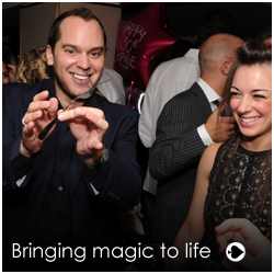 corporate event magician. Nick Crown is a fantastic corporate event magician who covers Surrey and London with his fabulous array of close-up table magic